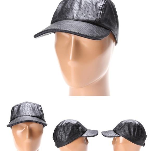 500430dce0c33 BCBGeneration Black Leather Cap