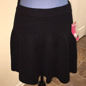 NWT Candie's Black Sweater Skirt