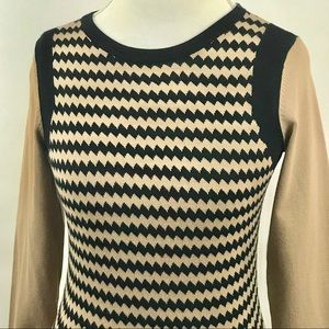 The Limited chevron print sweater size medium