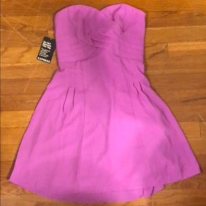 Pink strapless dress from Express