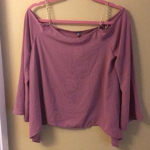 Pink off shoulder top