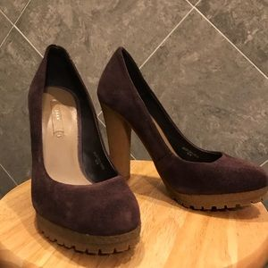 NEVER WORN ZARA PURPLE SUEDE HEEL