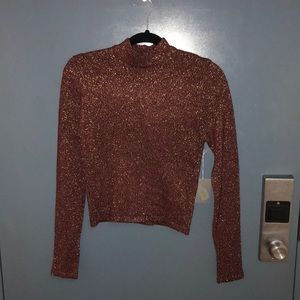 Forever 21 Cropped Turtle Neck Sweater