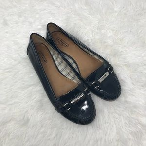 Coach Patent Leather Loafers With Logo Crest