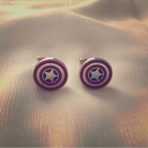 Other - Captain America cufflinks 💕great gift for him💕