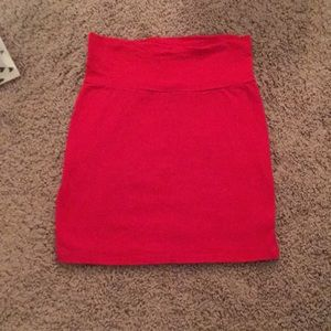 Charlotte Ruesse Red Pencil Skirt Never Worn