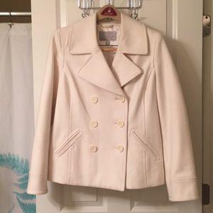 Ivory pea coat NWOT