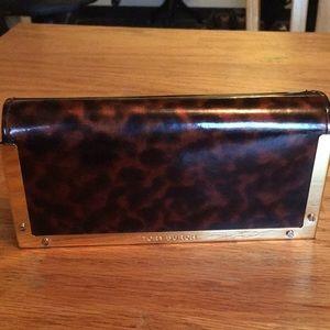 Tory Burch leopard print sunglasses case