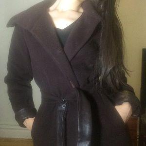 Cole Haan camel fur and silk overcoat
