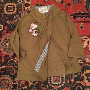 All that saz💋 green cape/blazer hybrid from ZARA