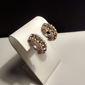 Vtg. Fancy & Fabulous Rhinestone Earrings