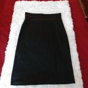 Xhilaration  Black High Waisted Knee Length Skirt