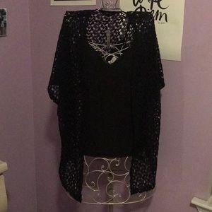 Open Lace like Knit Cardigan
