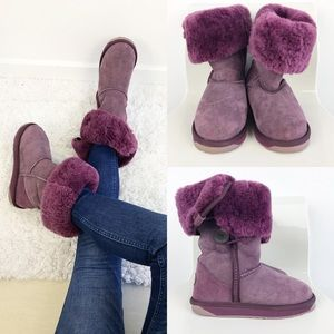 Emu Coombell Sheepskin Purple Boots