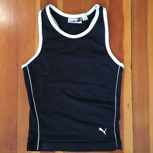 Puma Workout Black w White Trim Tank Top