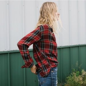 Madewell • Central Long Sleeve Shirt Tartan Plaid