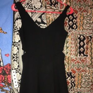 Black tight to flare dress