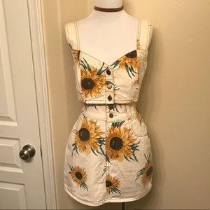 ADORABLE VINTAGE Denim Sunflower Set