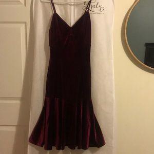 Deep Maroon Velvet Dress