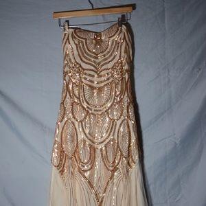 Roaring 20's Style long sequin dress