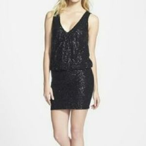 NWT ASTR double v neck sequined dress