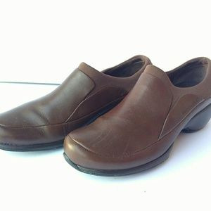 Merrell Womens Brown Leather Spire Slip on Shoes