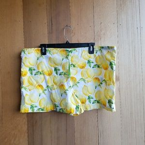 Vintage Handmade lemon linen style shorts