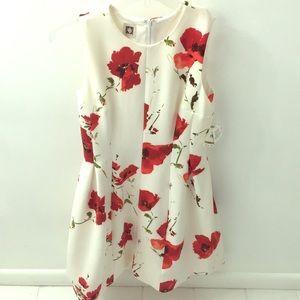 Red poppy dress