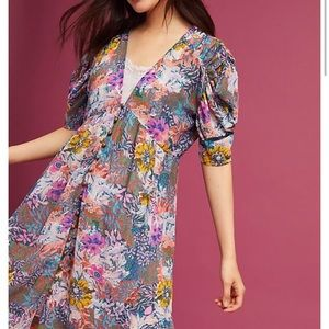 Anthropologie Akemi Kin Valencia Floral Dress S