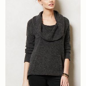 Anthro Angel of the North Boucle Cowlneck Sweater
