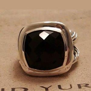 DAVID YURMAN ALBION BLACK ONYX RING 6.75
