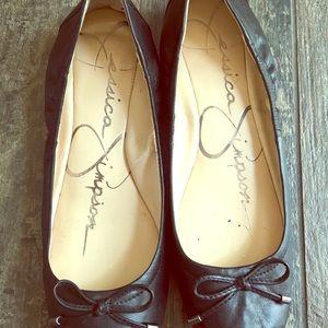 Size 6.5 Jessica Simpson Ballet Flats (Black)