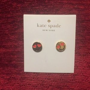 NWT Kate Spade smiley gold stud earrings