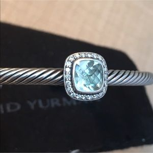 David Yurman Noblesse Prasiolite Diamond Bracelet