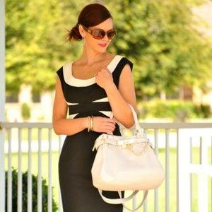 Maggy London black and white dress!