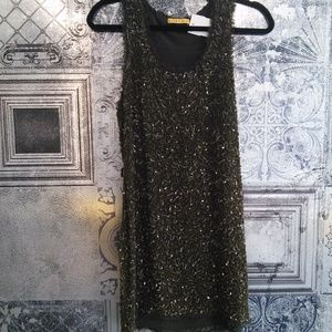 Alice and Olivia Green Sequin Dress