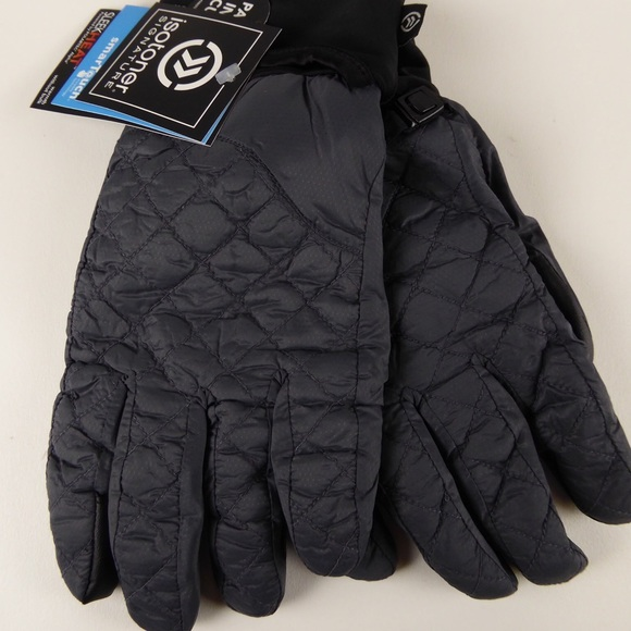 Isotoner Mens Quilted Touchscreen Winter Gloves