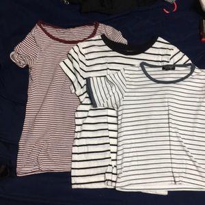 3 stripped shirt set all brand name