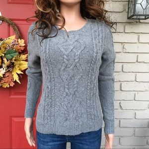 Sweaters - Gray wool blend sweater