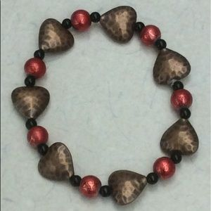 Copper/red/black bracelet