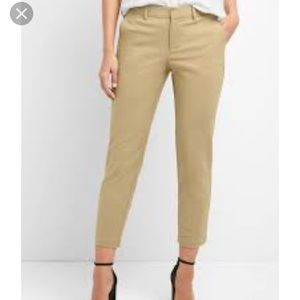 GAP slim cropped pants size 10 tall. run small 8