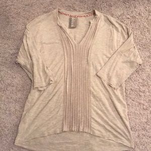 Beige Anthropologie top