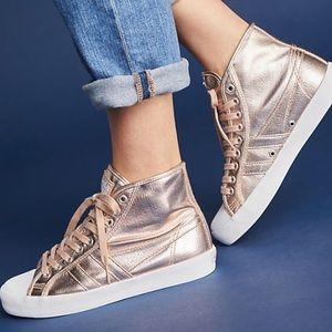 5123bf9cb54b Gola Shoes - Gola Coaster Rosegold Metallic High Tops