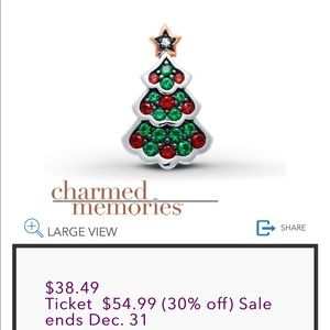Kay Jewelers Christmas Tree Charm
