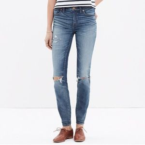 Madewell High Waist Jeans Torn Knee Edition