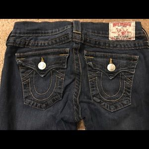 Women's TRUE RELIGION sz 26 dark skinny jeans