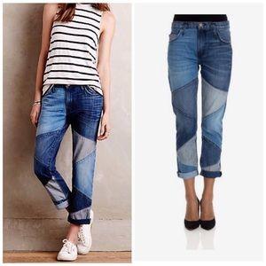 Current/ Elliott The Fling Patchwork Jeans, 28