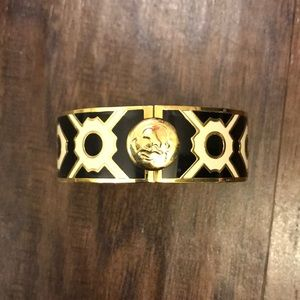 Black gold and white cuff bracelet