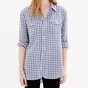 Madewell Cargo Work Shirt in Blue Gingham