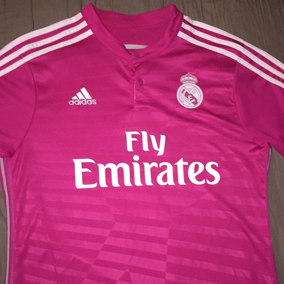 size 40 75ec4 1ab0a Real Madrid pink JAMES jersey